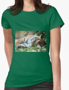 tiger at the zoo Womens Fitted T-Shirt