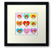 Hearts Framed Print