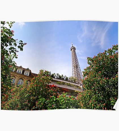 The Eiffel Tower in Springtime Poster