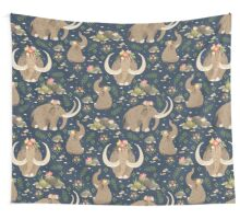 Cute mammoths Wall Tapestry