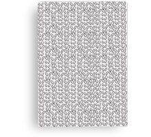Knitting Knit Pattern - Doodle Ink Black and White Canvas Print