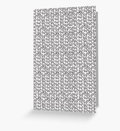 Knitting Knit Pattern - Doodle Ink Black and White Greeting Card