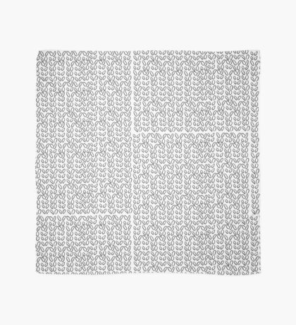 Knitting Knit Pattern - Doodle Ink Black and White Scarf