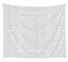 Knitting Knit Pattern - Doodle Ink Black and White Wall Tapestry