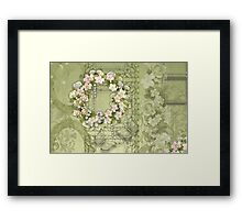 Spring wreath Framed Print