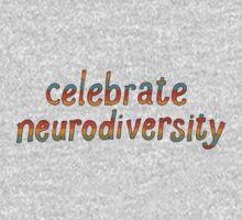 Celebrate Neurodiversity - Retro Rainbow One Piece - Short Sleeve