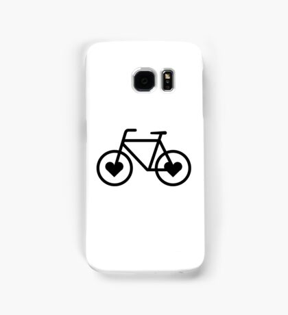 Black Bicycle Love - Fixie Hearts Samsung Galaxy Case/Skin