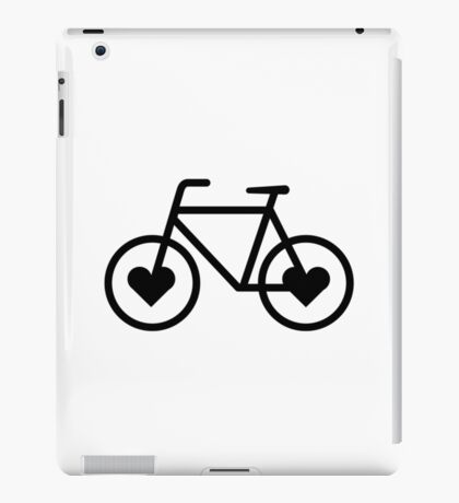 Black Bicycle Love - Fixie Hearts iPad Case/Skin