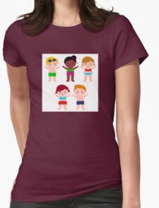 Little cute colorful summer Kids Womens Fitted T-Shirt