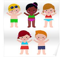 Little cute colorful summer Kids Poster