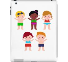 Little cute colorful summer Kids iPad Case/Skin