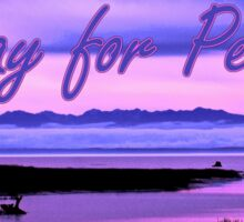 pray for peace (pink scenic) Sticker