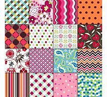 Old Fashioned Quilt Block Pattern Products Photographic Print