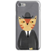 Ginger Cat in a Bowler Hat iPhone Case/Skin