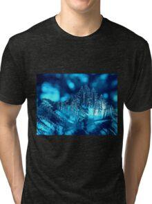 Frozen Blue Abstract Tri-blend T-Shirt