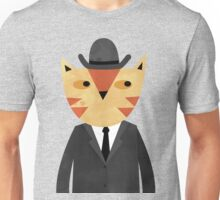 Ginger Cat in a Bowler Hat Unisex T-Shirt