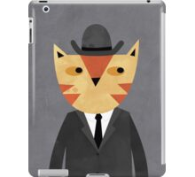 Ginger Cat in a Bowler Hat iPad Case/Skin