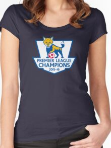 Leicester City Premier League Champions Women's Fitted Scoop T-Shirt