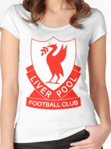 liverpool fc the red Women's Fitted Scoop T-Shirt