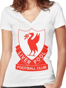 liverpool fc the red Women's Fitted V-Neck T-Shirt