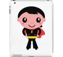 Cute young Super hero boy - Black + Red iPad Case/Skin