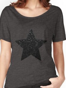 Black Crystal Bling Strass Women's Relaxed Fit T-Shirt