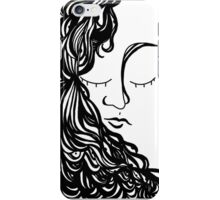 Woman with HairEyes iPhone Case/Skin