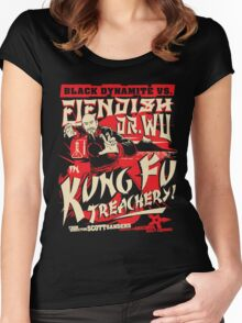Black Dynamite vs. Fiendish Dr. Wu Women's Fitted Scoop T-Shirt