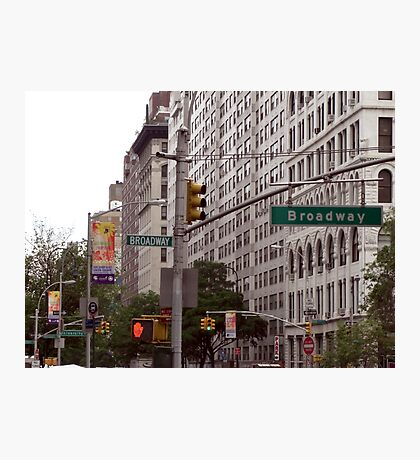Traffic lights on Broadway (colour) Photographic Print