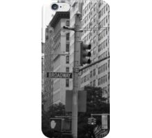 Traffic lights on Broadway (monochrome) iPhone Case/Skin