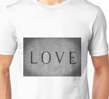Love In Black And White Unisex T-Shirt