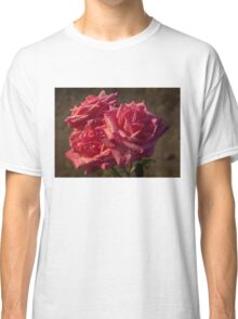 From My Mother's Garden - Three Fabulous Old Fashioned Sweetheart Roses Classic T-Shirt