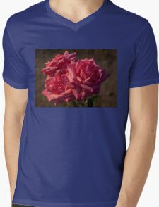 From My Mother's Garden - Three Fabulous Old Fashioned Sweetheart Roses Mens V-Neck T-Shirt