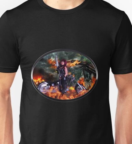 Sexy Biker road warrior Unisex T-Shirt