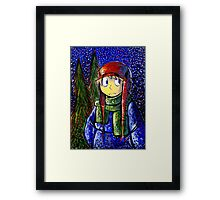 Snow Fall Star Light Framed Print