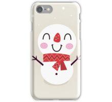 Beautiful funny Snowman { Retro style } iPhone Case/Skin