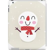 Beautiful funny Snowman { Retro style } iPad Case/Skin