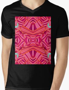 Mostly Pinks Geo Pattern Mens V-Neck T-Shirt