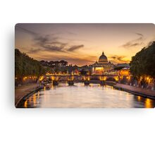 St. Peter's Dome at Sunset Canvas Print