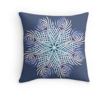 Peacock feathers / Mandala Throw Pillow