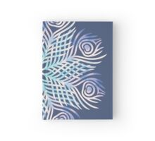 Peacock feathers / Mandala Hardcover Journal