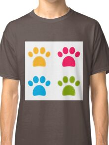Colorful Doggie Paws collection - colorful Classic T-Shirt