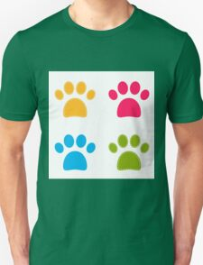 Colorful Doggie Paws collection - colorful Unisex T-Shirt