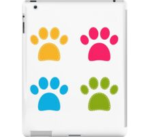 Colorful Doggie Paws collection - colorful iPad Case/Skin