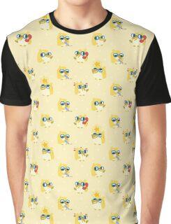 Cute Yellow Penguin Character Graphic T-Shirt