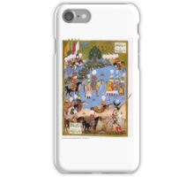 A miniature painting shows Ottoman Victory over Safavid ruler and capturing of Nakhjevan Sultan Suleyman forces iPhone Case/Skin