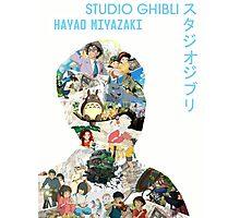 Studio Ghibli Hayao Miyazaki Collage Print Photographic Print