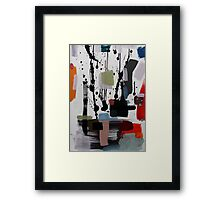"Yoga Inhale Print from ""Yoga Inhale"" Painting by Jenny Meehan  Framed Print"