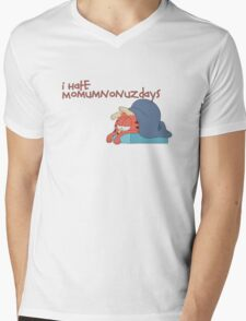 Rick and Morty: Gazorpazorpfield - I Hate  Momumnonuzdays Mens V-Neck T-Shirt