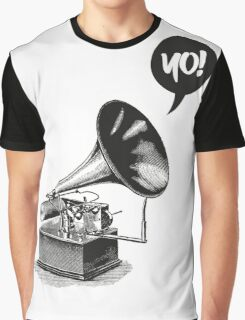 Hip-Hop Gramophone Graphic T-Shirt